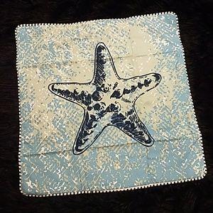 StarFish Beach Sea Green Blue Pillow Cushion Cover